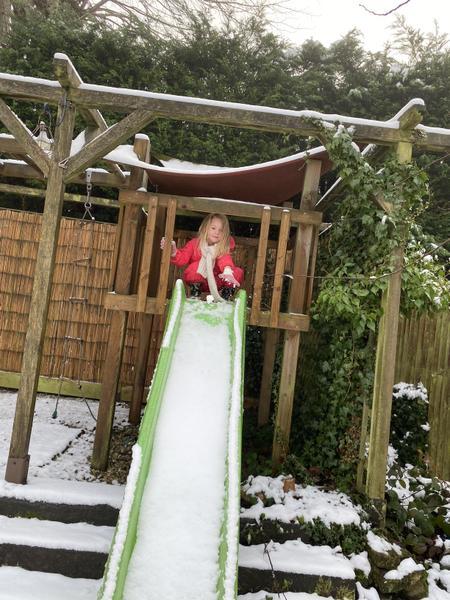 A snowy slide