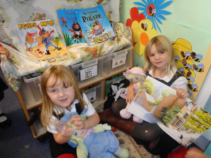 We love to share books and read to the dolls!