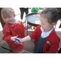 Exploring colour changes with friends