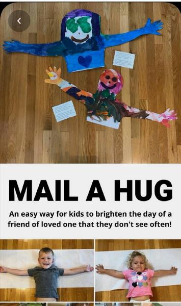 Make a hug and send it.