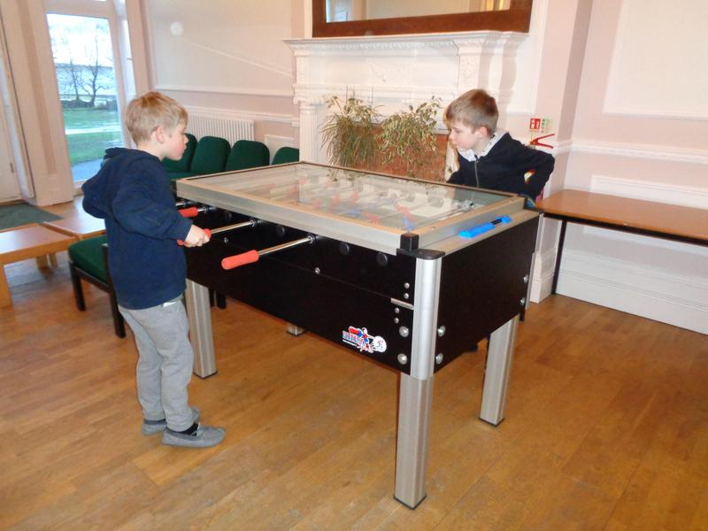 table football or just relax.
