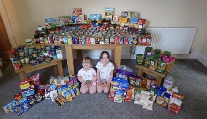 Wow look at all this food we have collected!!