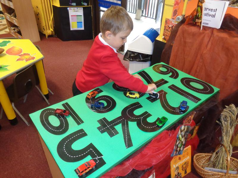Exploring our maths area