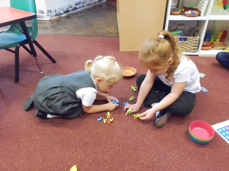 Sorting in our Maths Area