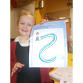 We practiced our letter formation