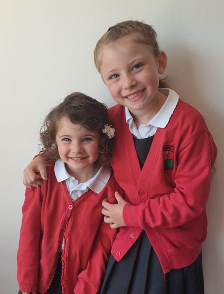 Ready for Nursery with my big sister!
