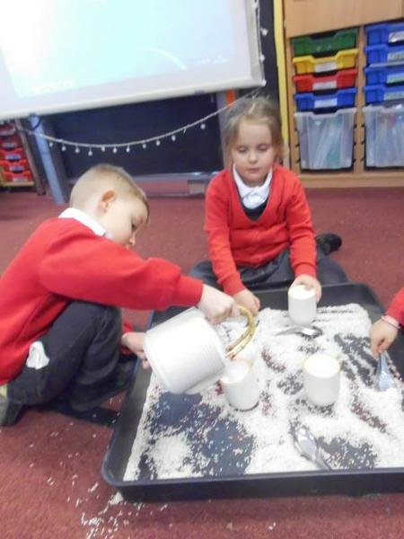 Role play with Miss Pendleton's Chinese tea set.