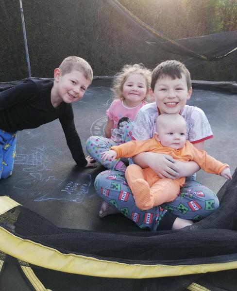 Trampoline fun with my brothers