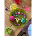 Play dough harvest plate