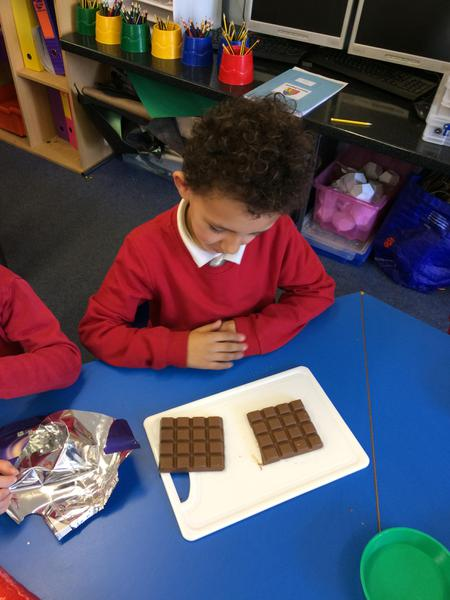 Using our Maths skills to find half.