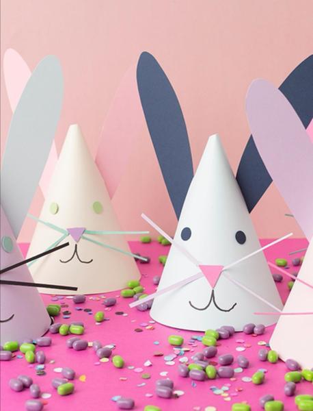 Paper cone bunnies