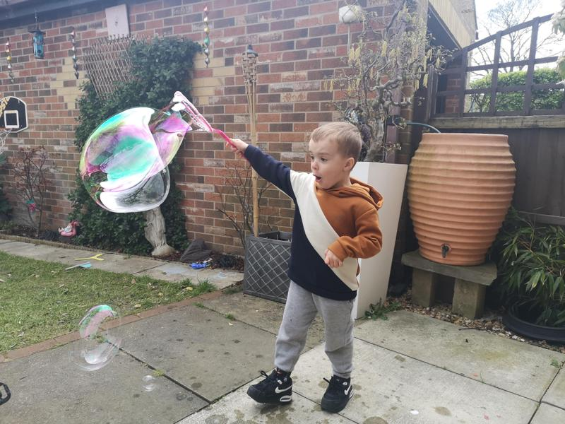 A huge bubble!