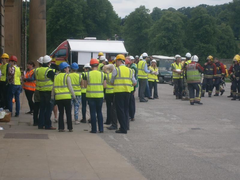 Firemen practicing at Chatsworth