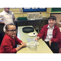 We used sieves to separate different sized materials.
