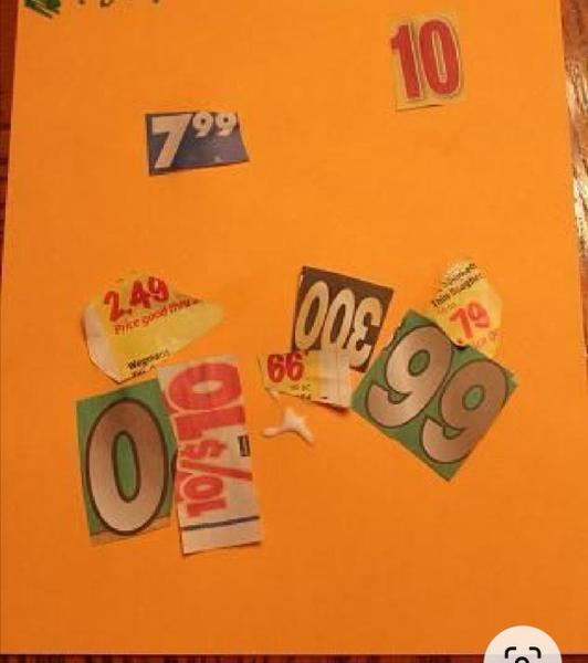 Cut out and stick numbers