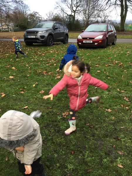 We threw snowballs!