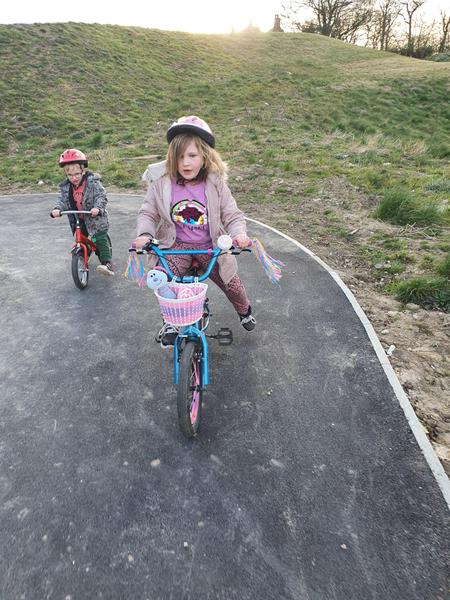 Fun on our bikes.