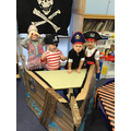We could not wait to begin pirate day