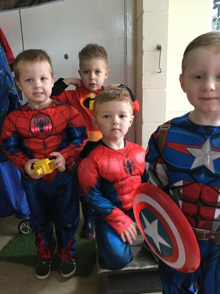 Lots of Spidermen.