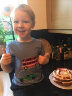 I baked a cake!