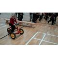 Riding a trike!