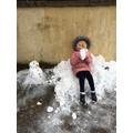 A snow throne!