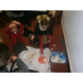 "Building ""ice"" dens for the animals"