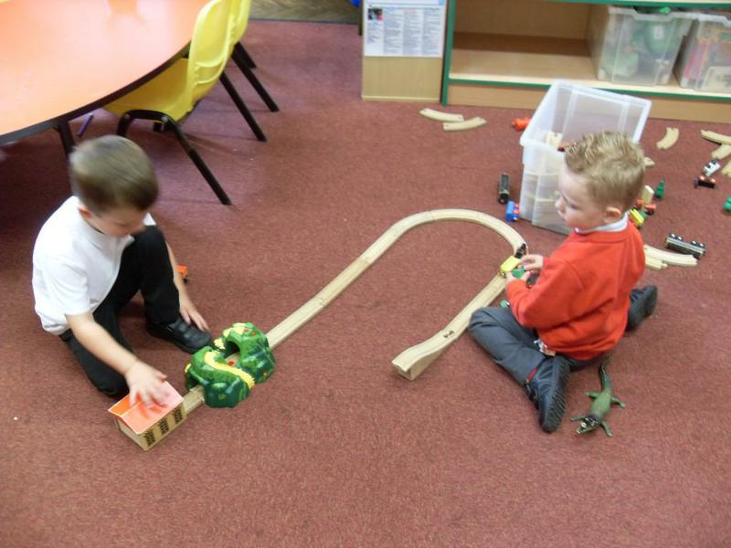'Choo choo' building in our construction area