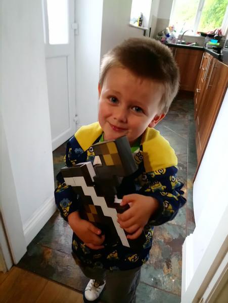 I love my new Minecraft sword.