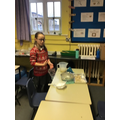 We had great fun trying to separate the mixture into its parts and make the water clean.