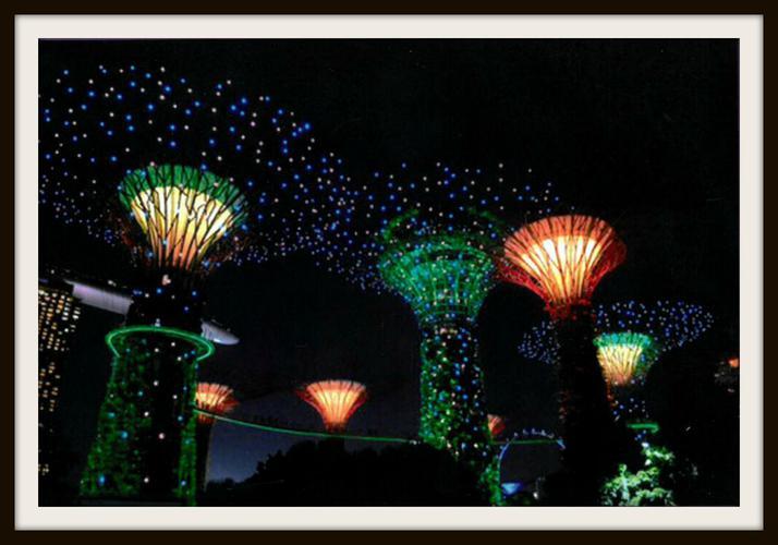 Trisha, Deer: Super Trees Grove in Singapore