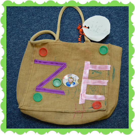Zoe in Otter Class customised an old bag