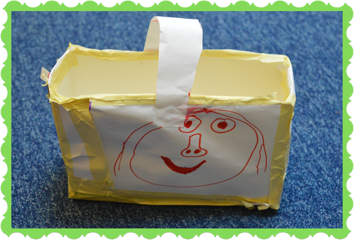 Florence in Owl Class made a bag using paper