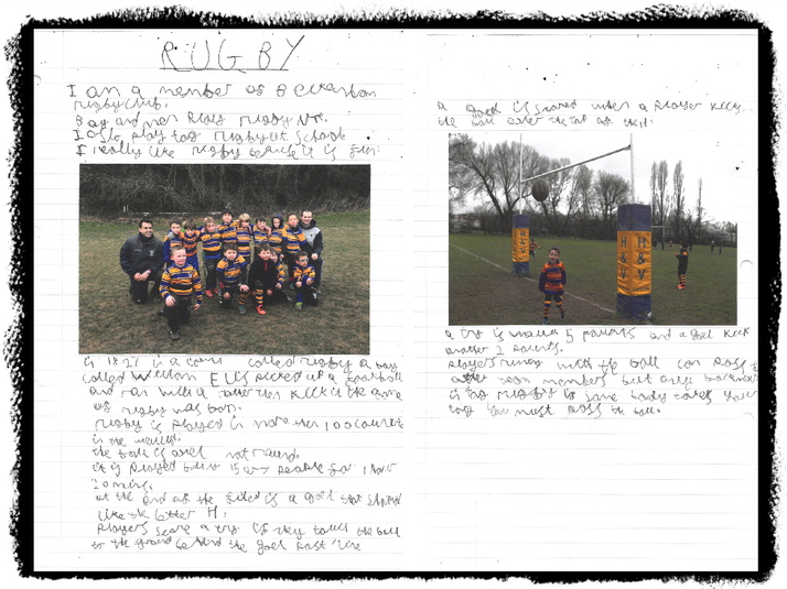 Rhys in Deer Class plays rugby