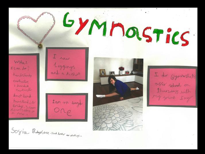 Sofia in Badger Class does gymnastics