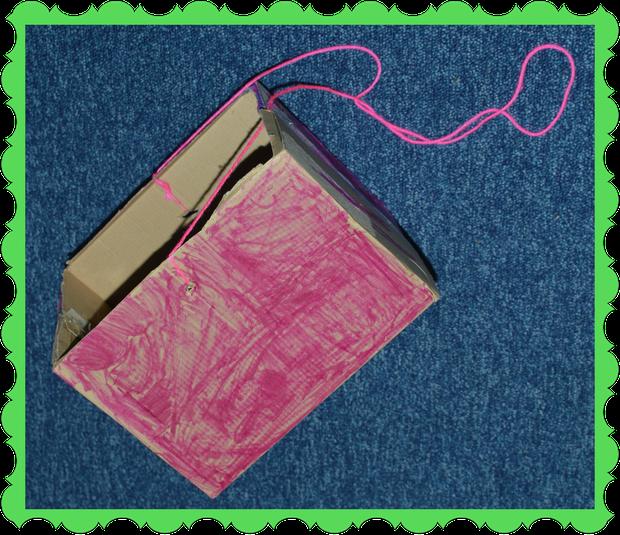 Leon in Owl Class used a cardboard box