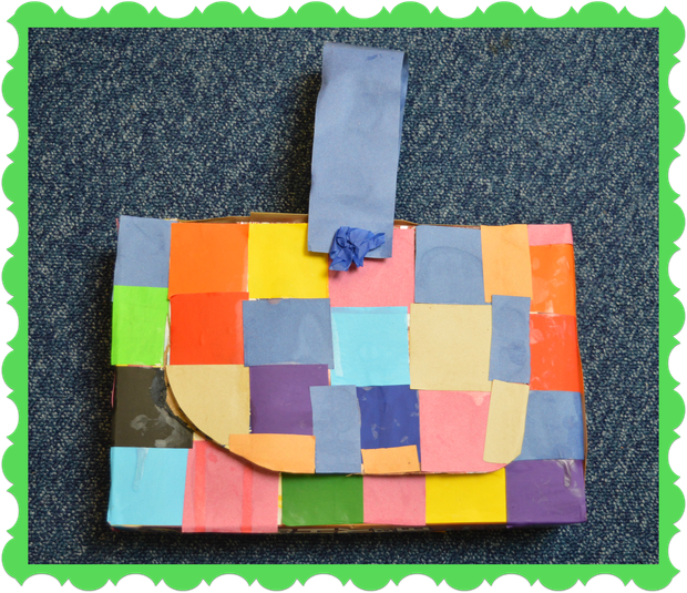 Sofia from Badger Class recycled a cereal box