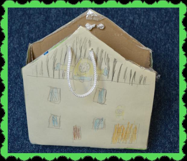 Nathanael in Fox Class made a minion house bag