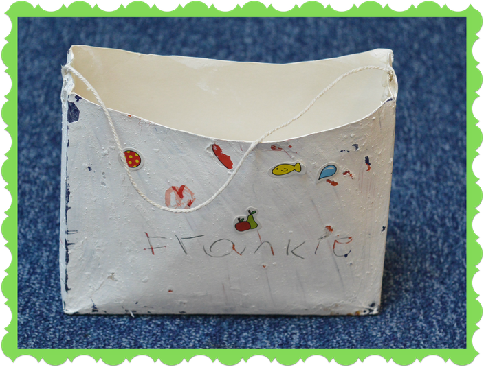 Frankie from Hedgehog Class recycled a box