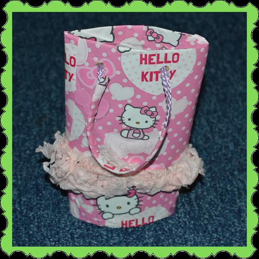 Ceyda in Rabbit Class made a Hello Kitty bag!