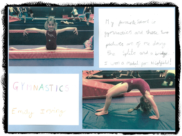 Emily in Rabbit Class does gymnastics