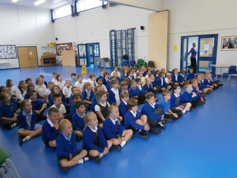 Key Stage 2 singing assembly