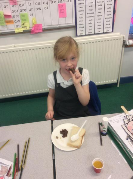 Ms Kenneison made some lovely food to share.