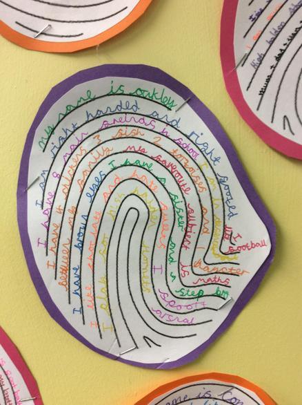 Fingerprint poems
