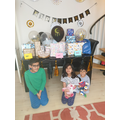 Isma and family decorated the living room for Eid