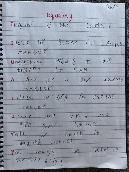 Winning Poem By Adam in RPa