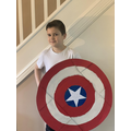 Captain America - amazing collaborative skills with superhero Dad!