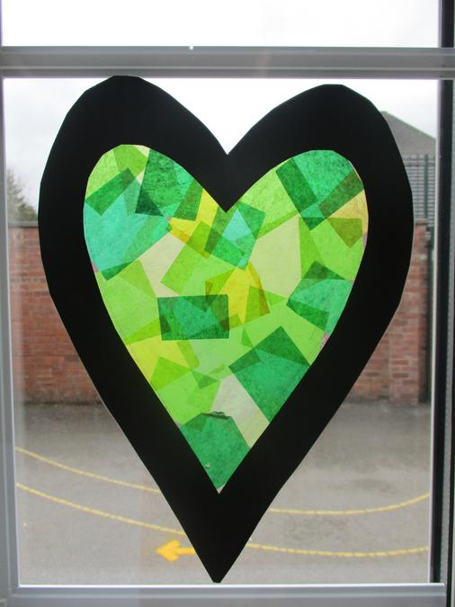 March 2021 - Creating our Green Hearts that will be filled with light