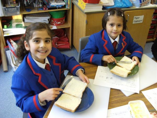 We followed our instructions to make a sandwich!