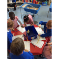 "Child led learning - ""let's draw the chicks!"""
